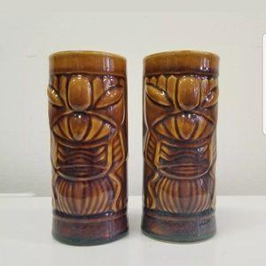 Vintage Ceramic Tiki Mugs Set of 2